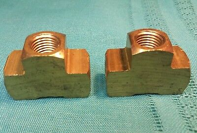 """2 pcs 1/4 NPT Solid Brass Female Tee Fittings 0.7"""" Thick 1-1/8 Tall 1-1/2"""" Long"""
