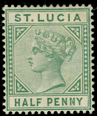 ST. LUCIA SG43, ½d dull green, M MINT.