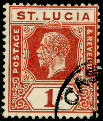 ST. LUCIA SG103, 1s orange-brown, USED.