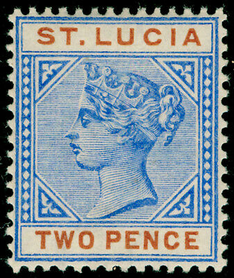 ST. LUCIA SG45, 2d ultramarine & orange, LH MINT.