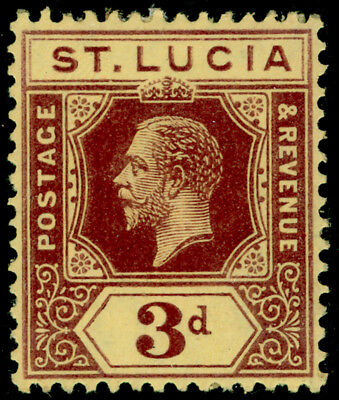 ST. LUCIA SG82, 3d purple/yellow, M MINT.