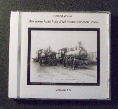 Dvd - Milwaukee Road Post-Wwii - Photo Collection - Roland Wicke- Verson 1.5