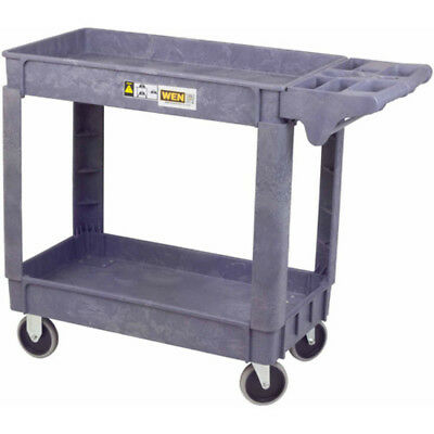 Utility Cart Push Handle 500 lbs Load Upper Lower Storage Small Tray Compartment