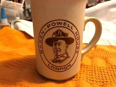 Vintage Baden Powell House London Coffee Cup Mug Boy Scouts