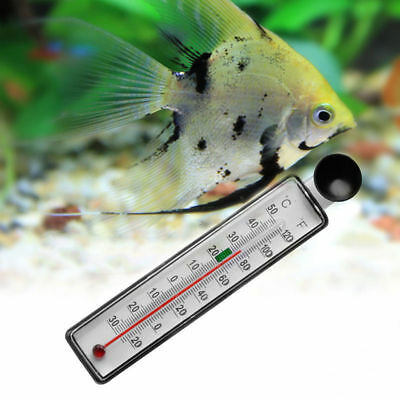 Fish Tank Aquarium Thermometer Glass Water Temperature Gauge Suction Cup L49