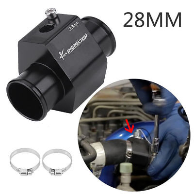 28mm Car Water Temp Temperature Joint Pipe Gauge Radiator Hose Adapter WD (S190)