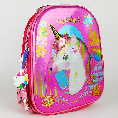 Unicorn Girls Backpack with Charm School 3D Backpack Mochila Escuela Nina Unicor
