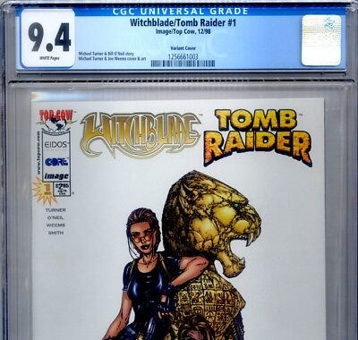 PRIMO:  Witchblade TOMB RAIDER #1 NM 9.4 CGC variant cover Top Cow comics lot