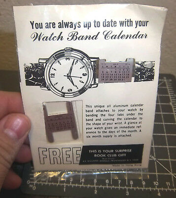 1970 Watch Band Calendar july - december, unopened package, unique collectible