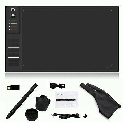 Wireless Graphic Drawing Tablet Huion 1409 W/ 8GB Memory 5080 LPI For Artist US
