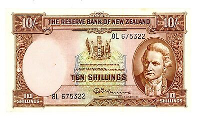 New Zealand ... P-158d ... 10 Shillings ... ND(1940-67) ... *XF+.