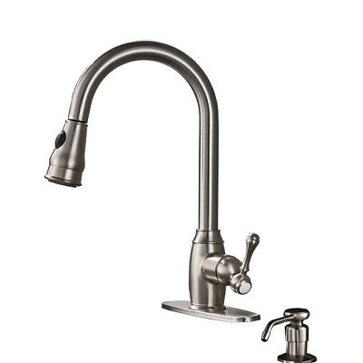 Single Handle Brushed Nickel Pull out Kitchen Faucet Brushed Nickel Mixer Tap