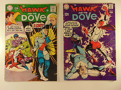 Hawk and Dove #1 & #6 1968-69 low grade first and last issue