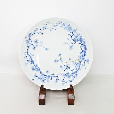E901: Real Japanese plate of old NABESHIMA porcelain of appropriate fine tone