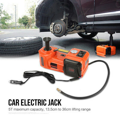 3 Function 5T 36CM Lift Car Electric Jack & Impact Wrench & Air compressor Sets