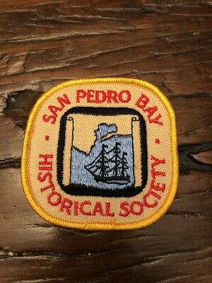 San Pedro Bay Historical Society Patch San Pedro California Vintage