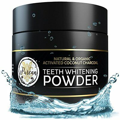 Teeth Whitening Activated Coconut Charcoal Powder – 2oz Tooth Powder by Purean