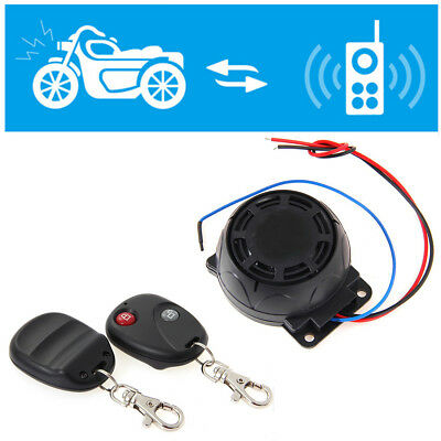 125dB Motorcycle Wiring Anti-theft Alarm Security System Set w 2 Remote Control
