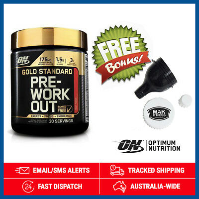 Gold Standard Pre Workout *Fruit Punch* by Optimum Nutrition (300g) + Funnel