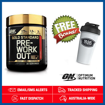 Gold Standard Pre Workout *Fruit Punch* by Optimum Nutrition (300g) + Shaker