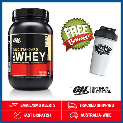 Gold Standard 100% Whey *Vanilla Ice Cream* by Optimum Nutrition (900g) + Shaker