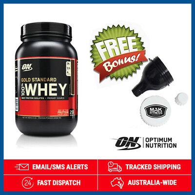 Optimum Nutrition Gold Standard 100% Whey *Double Rich Chocolate* 900g + Funnel