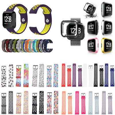Replacement Silicone Wrist Band Strap For Fitbit Versa Wristband Small / Large
