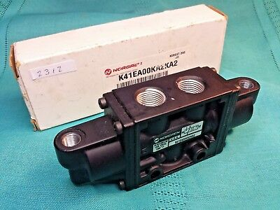 Norgren K41EA00KA2KA2 3 Port Air Piloted Directional Valve 3/8 & 1/8 NPT Ports