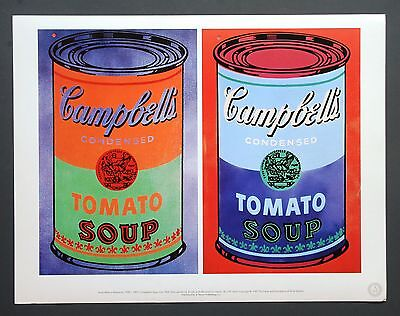 Andy Warhol Foundation Ltd. Ed. Offset Lithograph 40x31 Campbell's Soup Can 1965