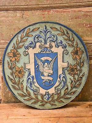 Round antique French coat of arms