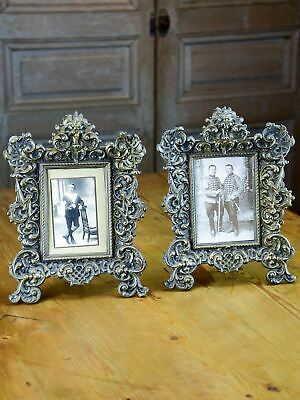 Pair of antique French Napoleon III photo frames
