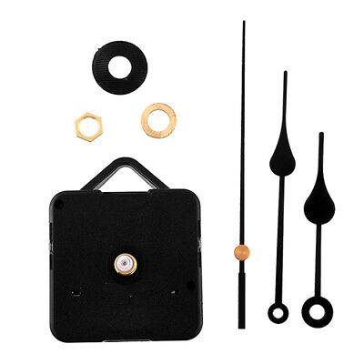 Nd_ Silent Retro Quartz Clock Movement Black Hands Mechanism Parts Diy Tool Fa