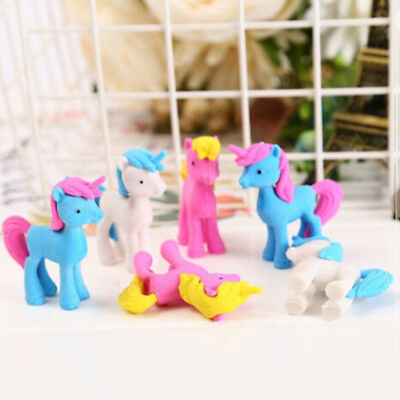 Funny Unicorn Horse Rubber Pencil Eraser For Kids Stationery School Gift Prize