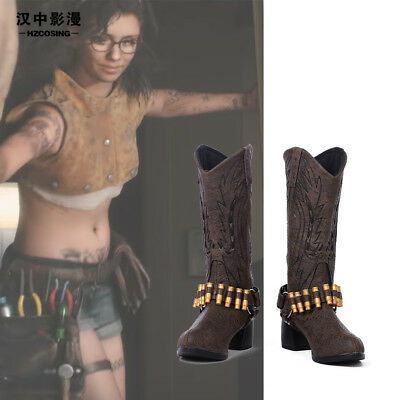 HZYM Devil May Cry 5 Nico Cosplay Leather Boots Shoes Custom Made