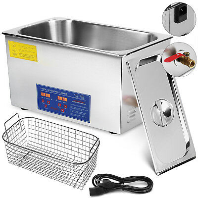 New 22L Ultrasonic Cleaner Stainless Steel Industry Heated Heater w/Timer