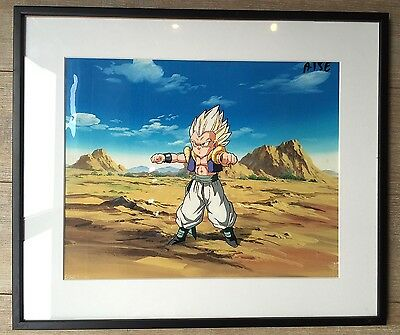 Celluloid original Dragon Ball Z Generic end + Crayoned preparatory framed