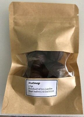 Nutmeg 25g (whole)
