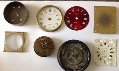 Collection Coral And Europa Clock Dials Faces With Movement Bezel Spare Parts