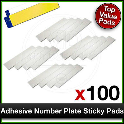 Car Number Plate STICKY PADS Heavy Duty ADHESIVE x 100 Pack