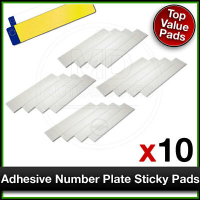 Car Number Plate STICKY PADS Heavy Duty ADHESIVE x 10 Pack