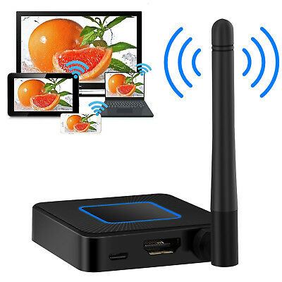 1080P Wireless WiFi Display Dongle Receiver HDMI AirPlay RCA Miracast + Antenna