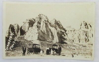 Real Photo Postcard Chalk Buttes Montana A Real Beauty Spot Cars Thompson RPPC