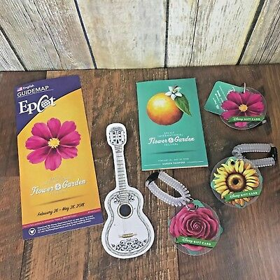 Disney Epcot Flower Garden Festival 2018 Gift Cards Passport Coco Bookmark Lot