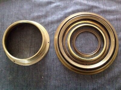 Antique Clock Brass Bezels Frames Part Collection From Clockmakers Spares