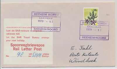 LI59863 South West Africa 1979 rail letter post fine cover used