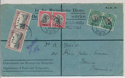 LI59873 South West Africa 1928 OHMS fine cover used