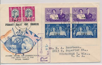 LI59874 South West Africa 1947 royal visit first day cover used