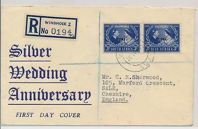 LI59875 South West Africa 1948 silver wedding first day cover used