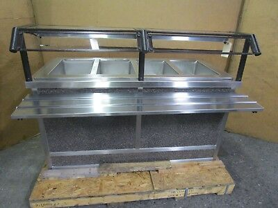 "Eagle 64"" 4 Pan Well Hot Heated Buffet Bar Food Warmer Serving Line 220V 1Ph 30A"
