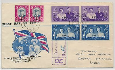 LI59892 South West Africa 1947 royal visit first day cover used